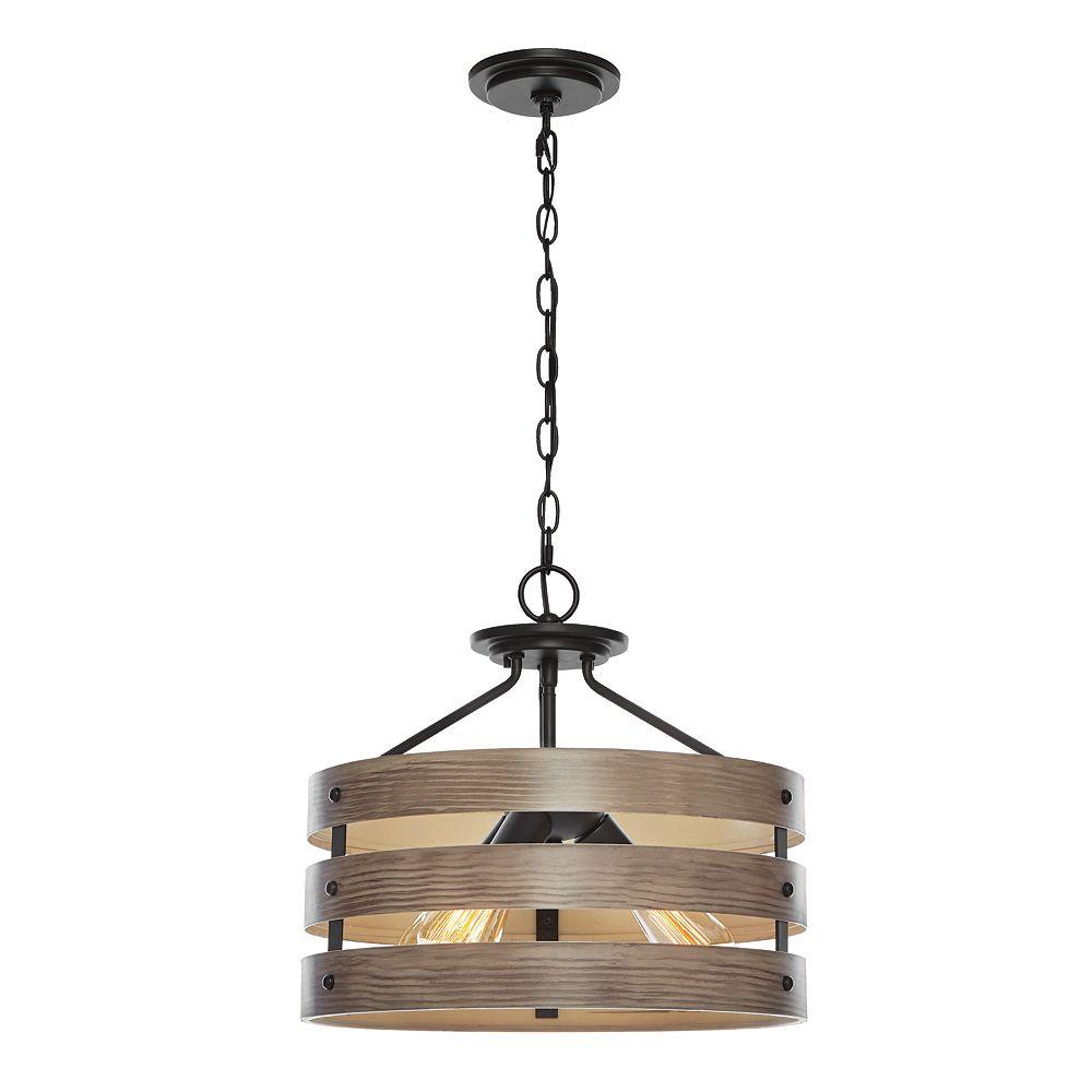 Home Decorators Collection 13 inch 3-Light Semi-Flush Mount/Pendant
