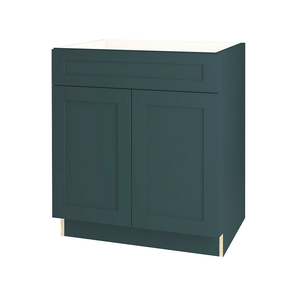 Thomasville NOUVEAU Rhett Lagoon Assembled Base Cabinet with Drawer 30 inches Wide