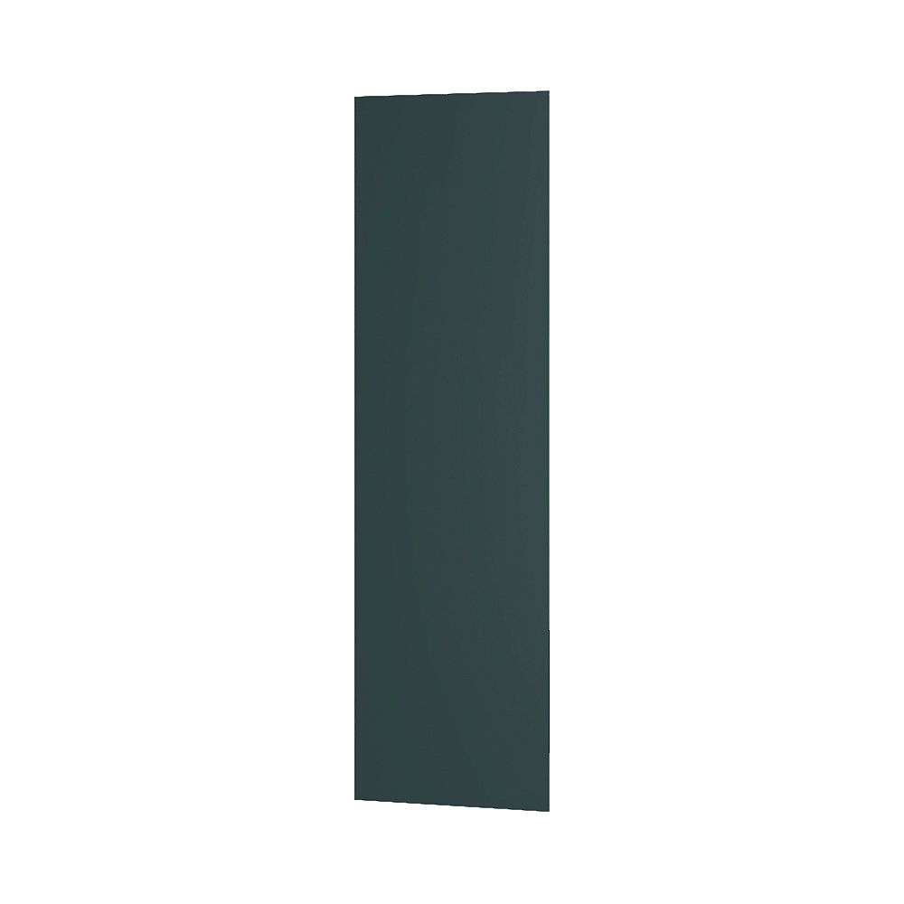 Thomasville Nouveau Rhett 0.63-inch W x 84-inch H x 25-inch D Pantry/Fridge Panel for Shaker Style Assembled Kitchen Cabinet/Cupboard in Lagoon Blue (MP2596)