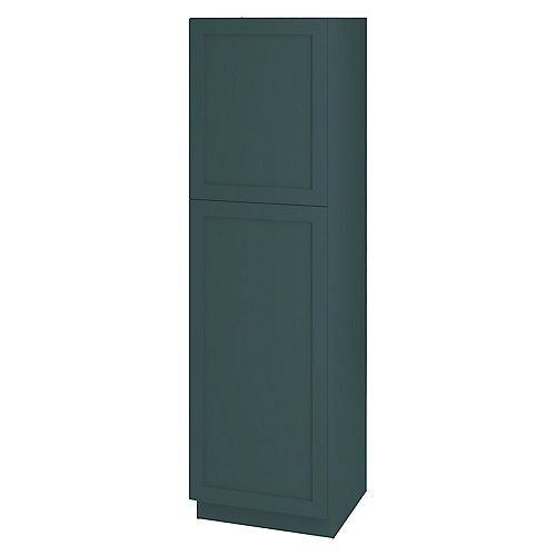 Rhett 24-inch W x 84-inch H x 24-inch D Shaker Style Assembled Kitchen Pantry Cabinet/Cupboard in Lagoon Blue with Adjustable Shelves (T248424L)