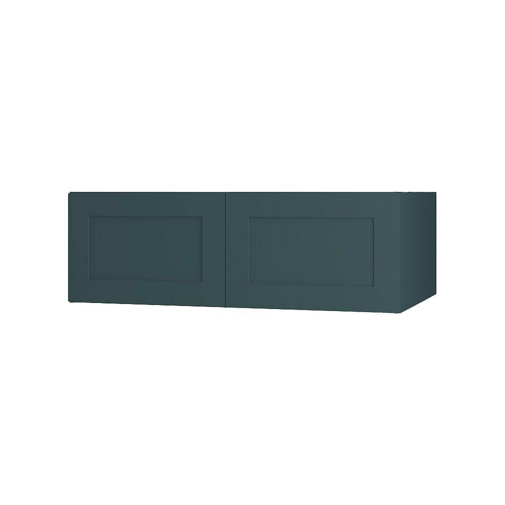 Thomasville NOUVEAU Rhett Lagoon Assembled Wall Cabinet 36 inch Wide x 13.5 inch High 24 inch Deep