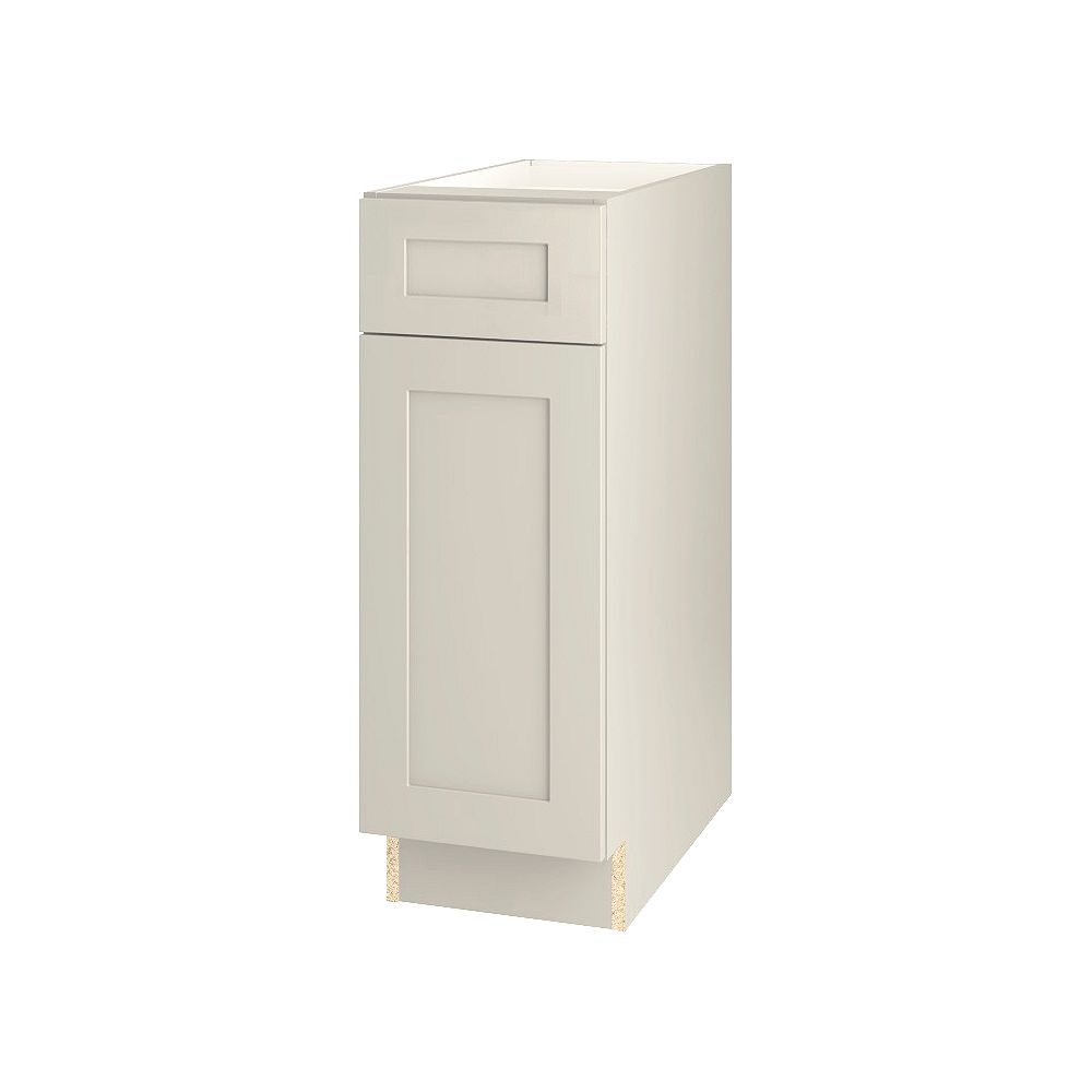Thomasville Nouveau NOUVEAU Rhett Mortar Assembled Base Cabinet with Drawer 12 inches Wide