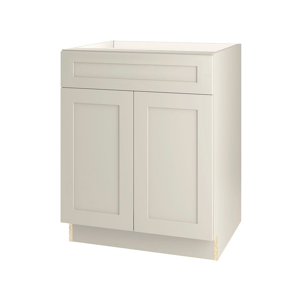 Thomasville Nouveau NOUVEAU Rhett Mortar Assembled Base Cabinet with Drawer 27 inches Wide