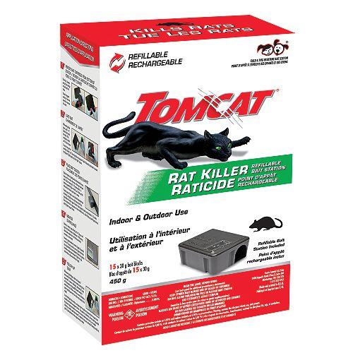 Tomcat Rat Killer Refillable Bait Station (Tier 1)  15 x 30g