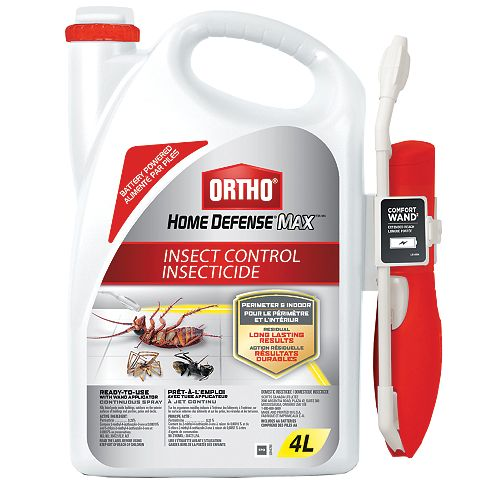 Ortho Home Defense Max Perimeter & Indoor Insect Control Ready-To-Use with Wand Applicator  4L