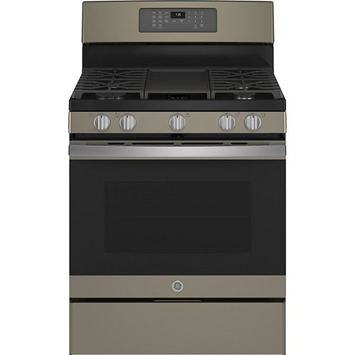 30-inch Freestanding Gas Convection Range with No Preheat Air Fry in Slate