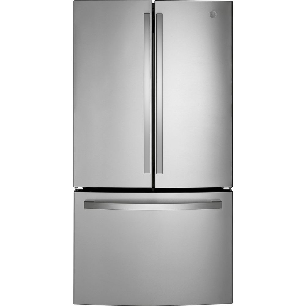 GE 27 Cu. Ft. Standard Depth French-Door Refrigerator in Fingerprint Resistant Stainless Steel