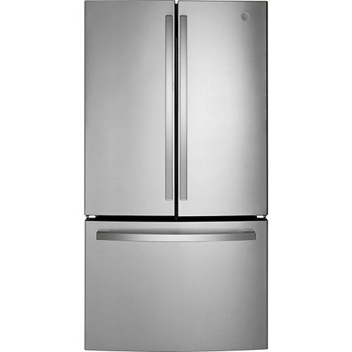27 Cu. Ft. Standard Depth French-Door Refrigerator in Fingerprint Resistant Stainless Steel