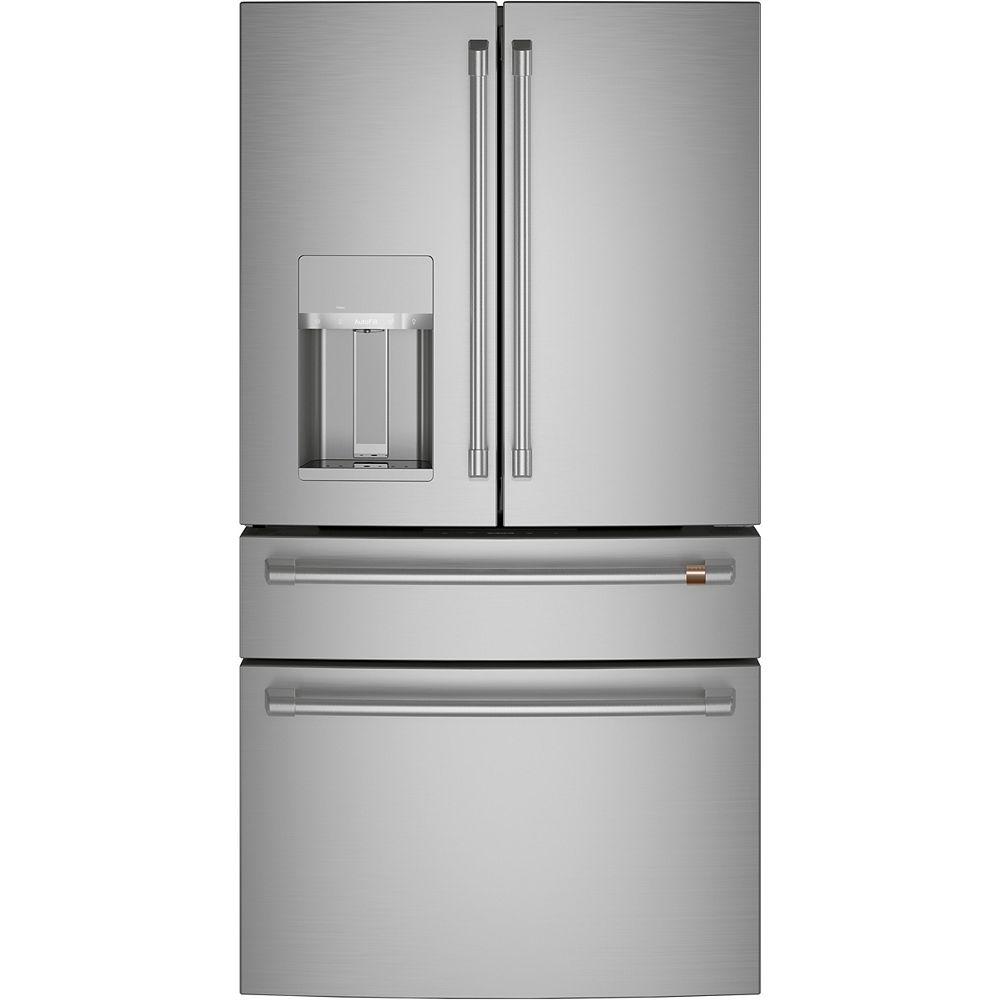 Café 27.8 Cu. Ft. Standard Depth 4-Door French-Door Refrigerator in Stainless Steel