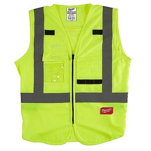 Gilet de sécurité jaune haute visibilité - 4X/5X