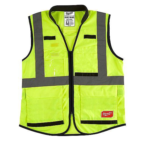 Gilet de sécurité jaune de performance 4X/5X
