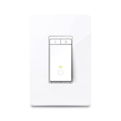 Kasa Smart Wi-Fi Light Switch with Dimmer in White