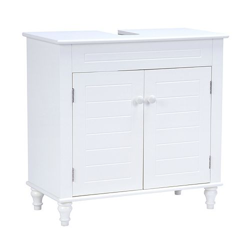 Cary III 24 inch W x 18 inch D x 30 inch H Bath Vanity Cabinet Only in White