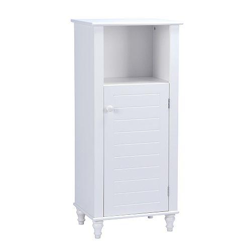 Cary IV 18 inch W x 12 inch D x 36 inch H Bath Storage Cabinet in White