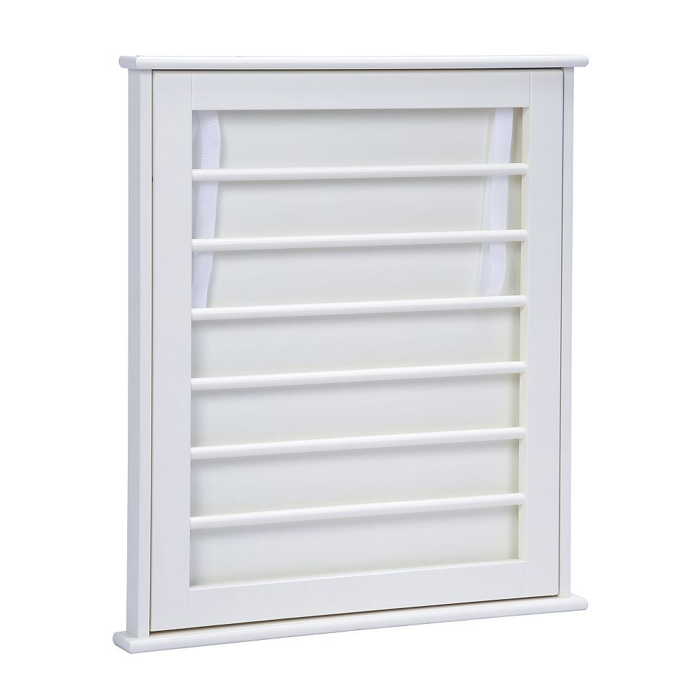 A&E Bath and Shower Cary VII 20.75 inch W x 2 inch D x 23.75 inch H Towel Rack Cabinet in White