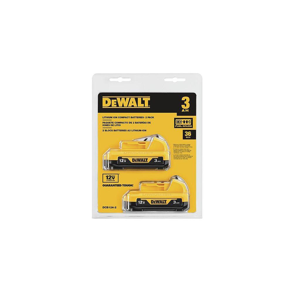 Dewalt 12V MAX HIGH CAPACITY LITHIUM BATTERY PACKS - 2 PACK