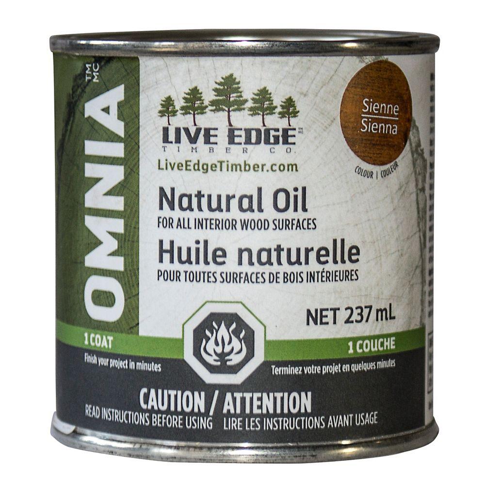 Live Edge Timber Co. Omnia Sienna Wood Oil 237 ml