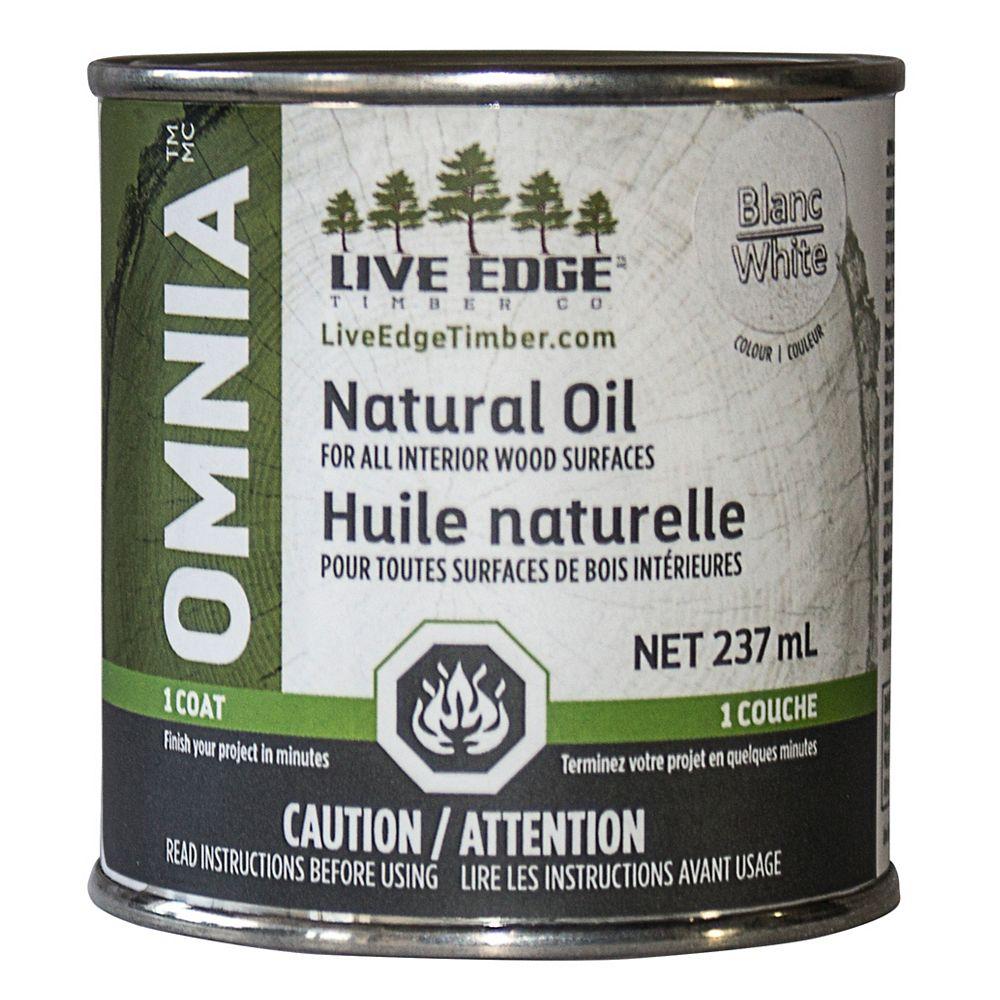 Live Edge Timber Co. Omnia Huile Naturel - Ultra Blanc
