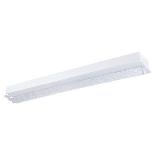 Priola luminaire plafonnier DEL (9.7W), finition blanc et nickel avec verre transparent