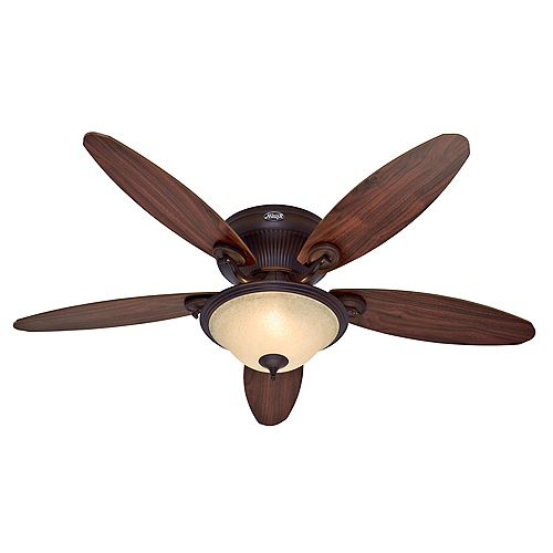 Jamestown 52-inch Indoor Cocoa Ceiling Fan with Light