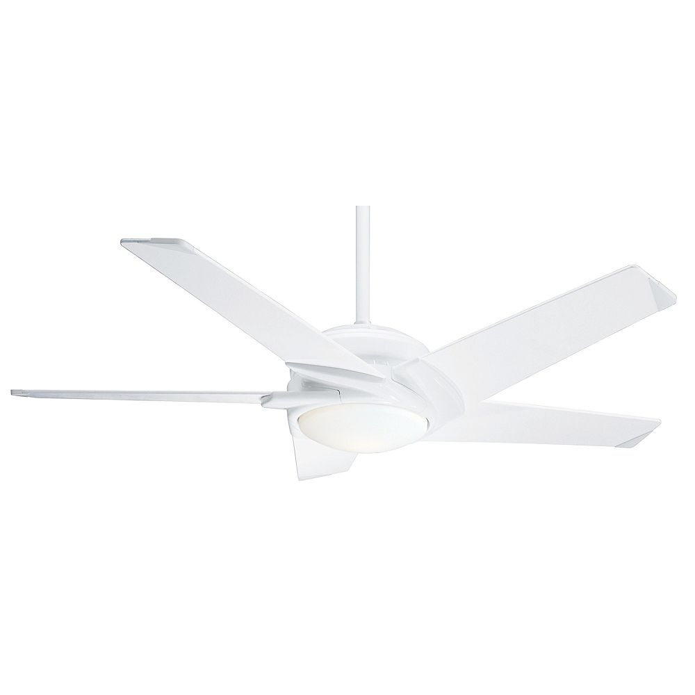 Casablanca Stealth 54-inch Indoor White Ceiling Fan with Light