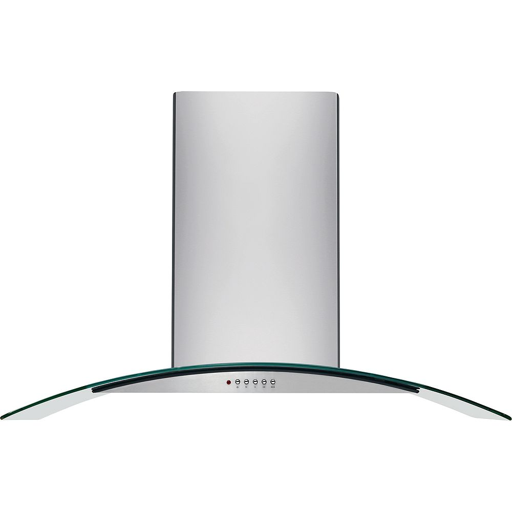Frigidaire 42-inch Convertible Glass Canopy Island Range Hood in Stainless Steel