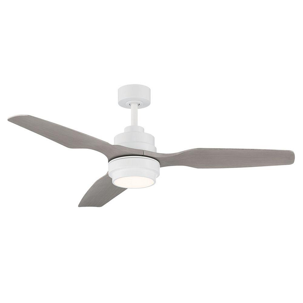 GlucksteinElements Denver 48 in LED Indoor Ceiling Fan - Matte white