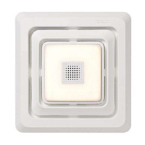Bluetooth Speaker Quick Install Bathroom Exhaust Fan Grille/Cover with LED Light