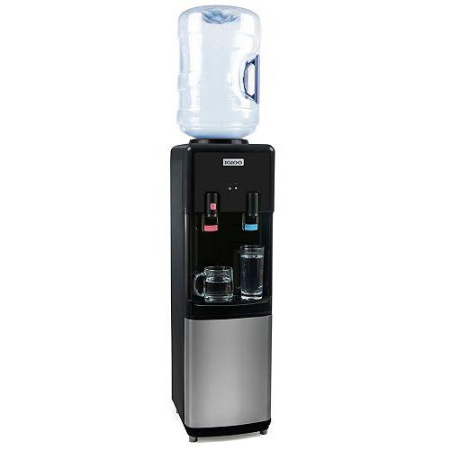 Igloo Distributeur d'eau chaude et froide à chargement par le haut, acier inoxydable
