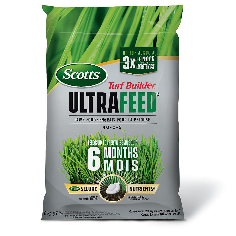 Scotts Turf Builder Ultrafeed Lawn Food 40-0-5   8kg,  (326 m², 3,509 ft²)