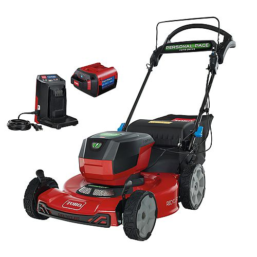 Recycler 22-inch 60V Max Lithium-Ion Battery SmartStow Walk Behind Lawn Mower with 6.0 Ah Battery/Charger Included