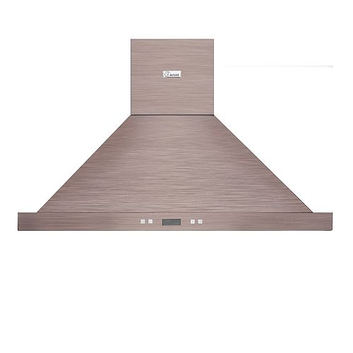 Turin Casino Bronze Wall Mounted Range Hood 30""