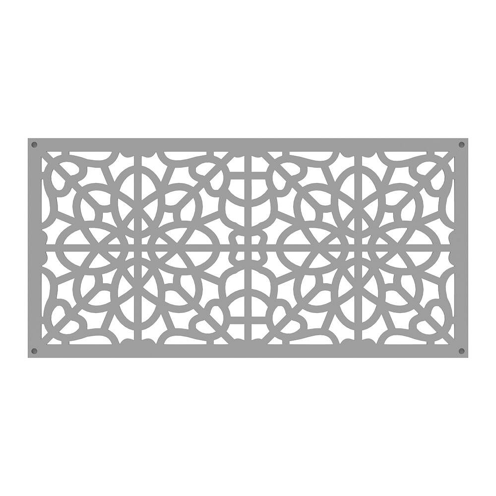Barrette Fretwork 2 ft. x 4 ft. Decorative Screen Panel in color Clay