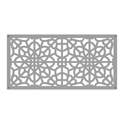 Fretwork 2 ft. x 4 ft. Decorative Screen Panel in color Clay