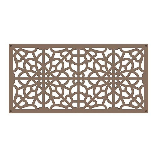 Fretwork 2 ft. x 4 ft. Decorative Screen Panel in color Saddle