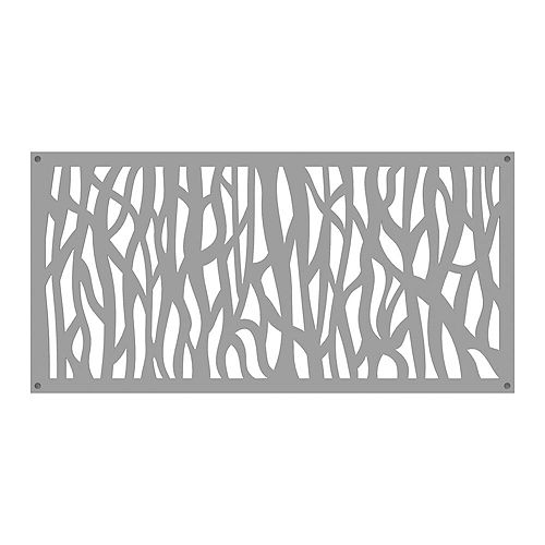 Sprig 2 ft. x 4 ft. Decorative Panel in colour Clay