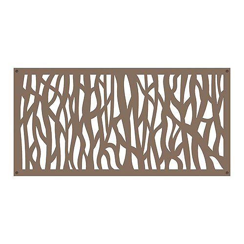 Sprig 2 ft. x 4 ft. Decorative Panel in colour Saddle