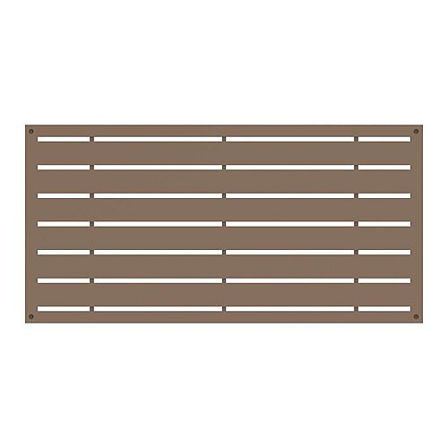 Boardwalk 2 ft. x 4 ft. Decorative Panel in colour Saddle
