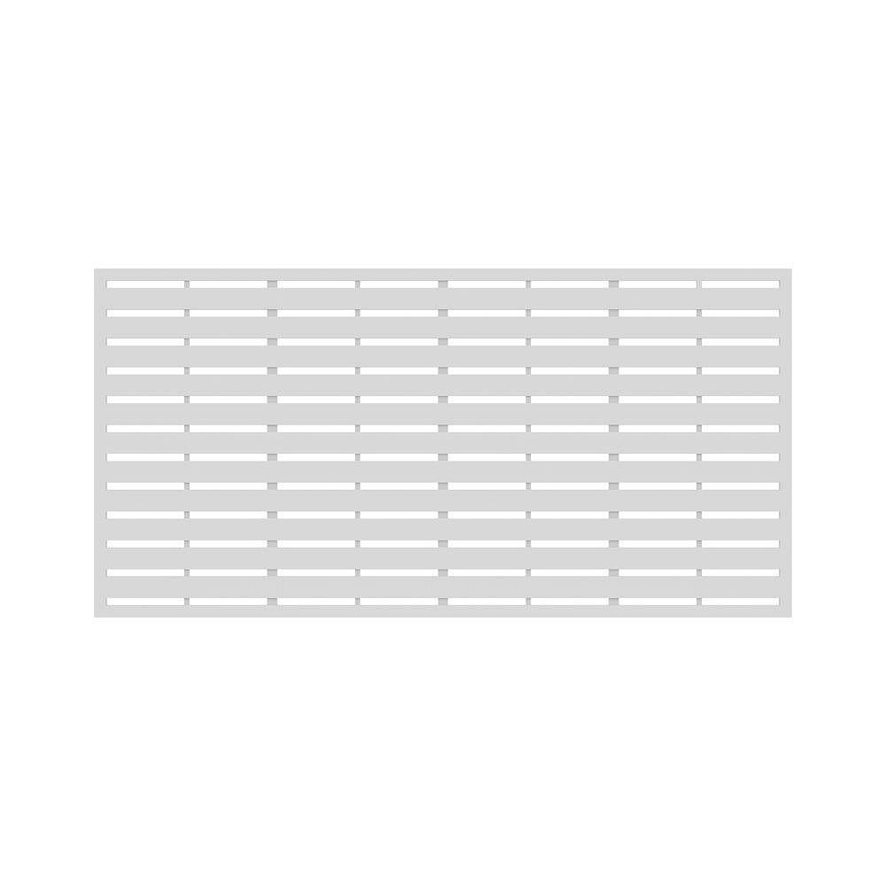 Barrette Boardwalk 34 in. x 68 in. Decorative Panel in colour White