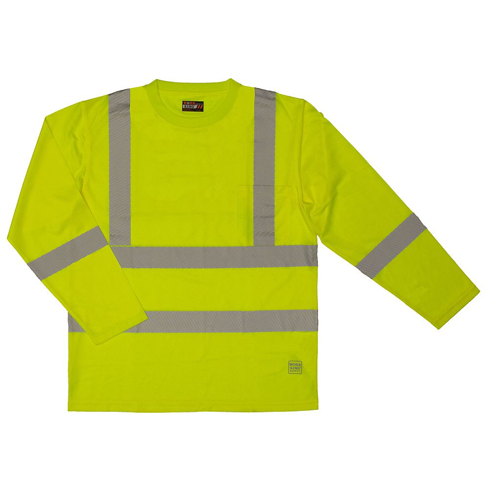 Work King L/S Safety T-Shirt Flgr Xs