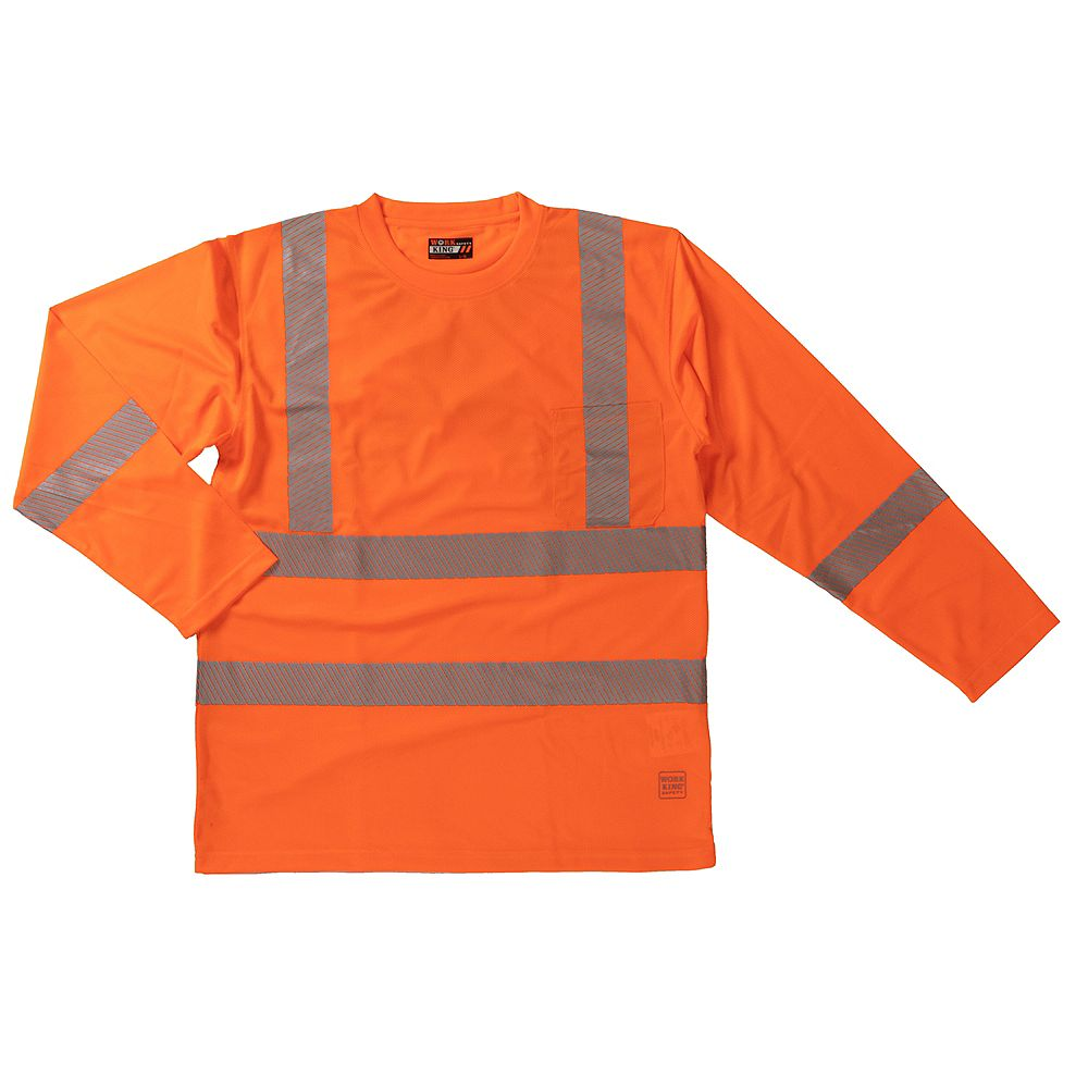 Work King L/S Safety T-Shirt Flor 2Xl
