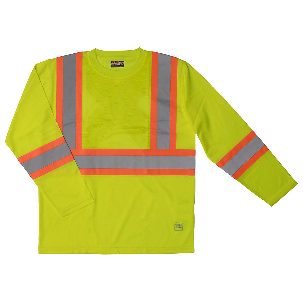 Work King Safety T - Shirt L/S Flgr 3Xl