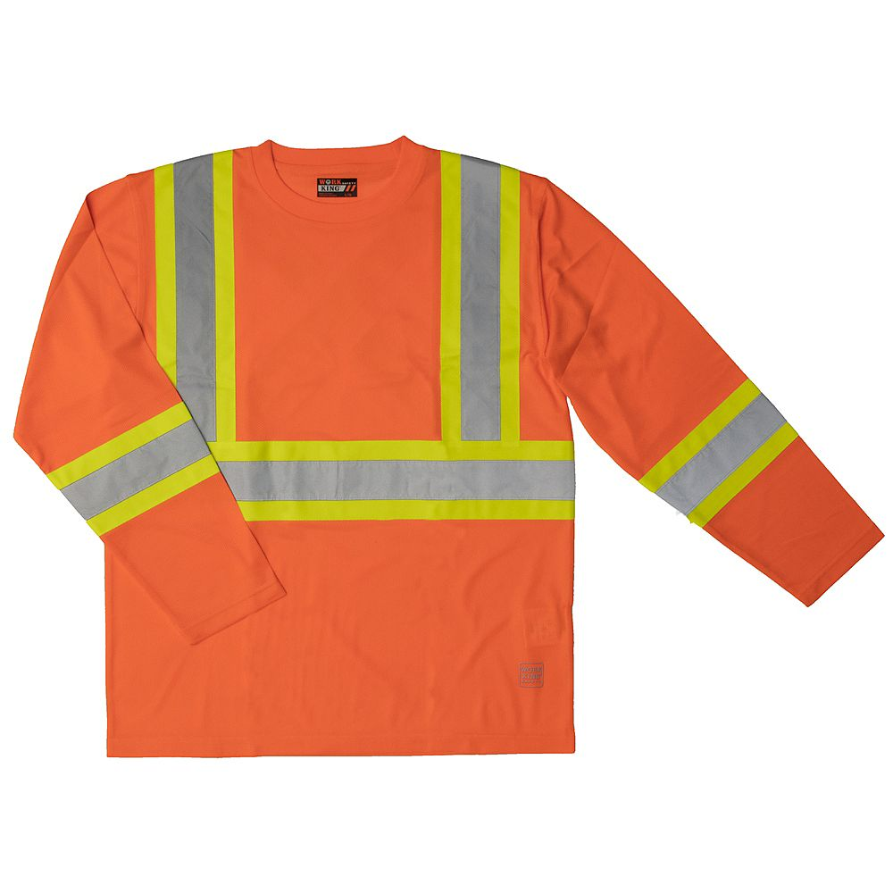 Work King Safety T - Shirt L/S Flor Xl