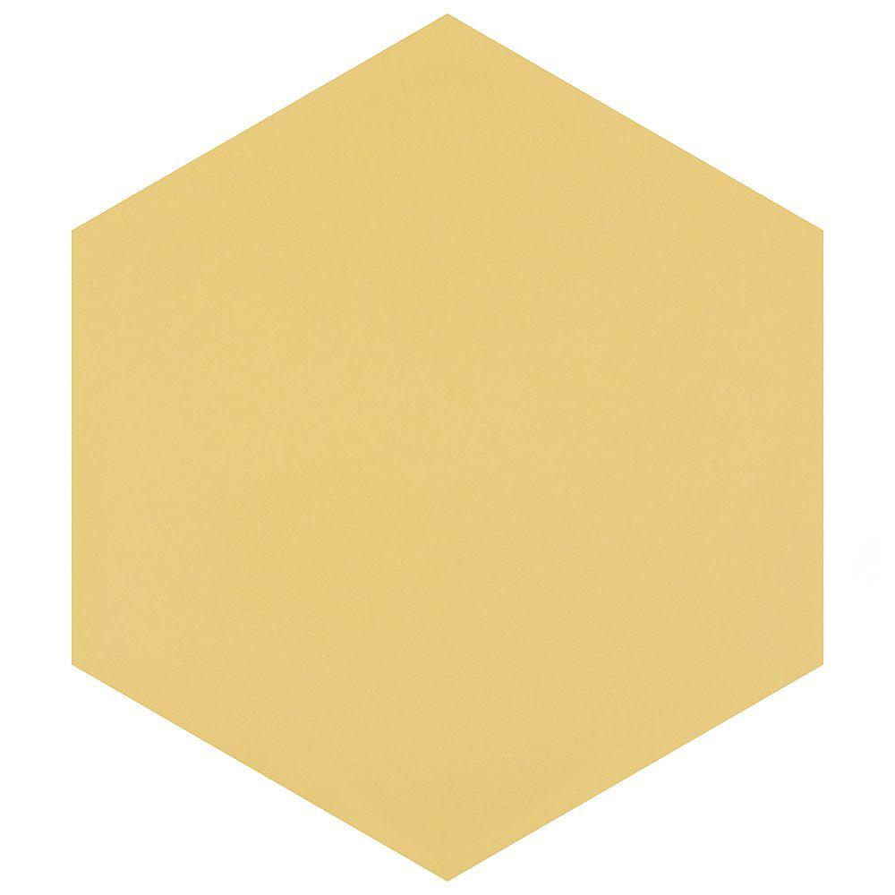 Merola Tile Textile Hex Dandelion 8-5/8-inch x 9-7/8-inch Porcelain Floor and Wall Tile (11.56 sq. ft. / case)