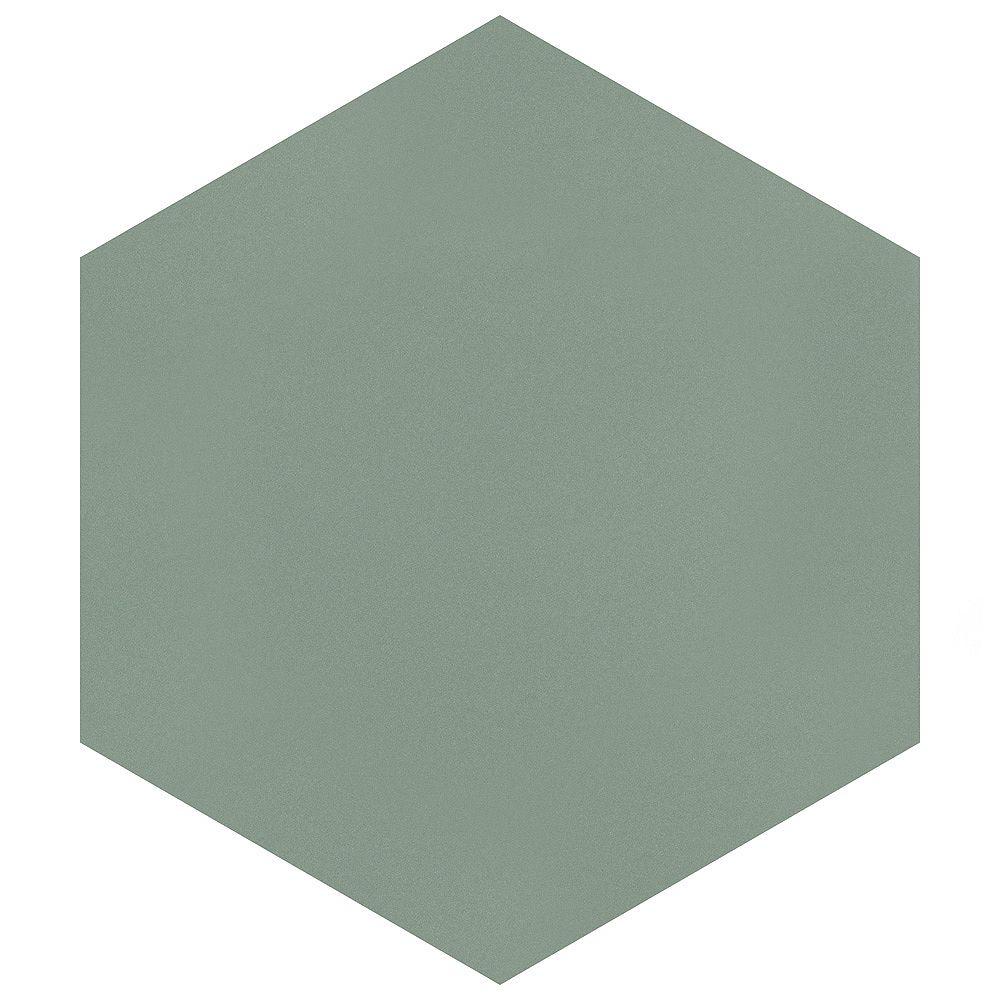 Merola Tile Textile Hex Kale 8-5/8-inch x 9-7/8-inch Porcelain Floor and Wall Tile (11.56 sq. ft. / case)