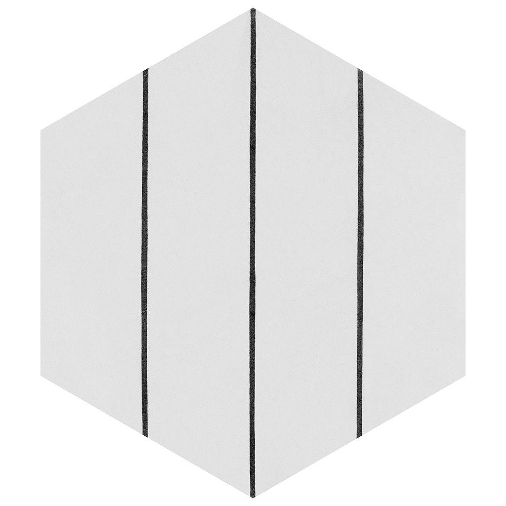 Merola Tile Porto Savona Hex 9-7 / 8-inch x 8-5 / 8-inch Black Porcelain Floor and Wall Tile (11.56 sq. ft./ case)