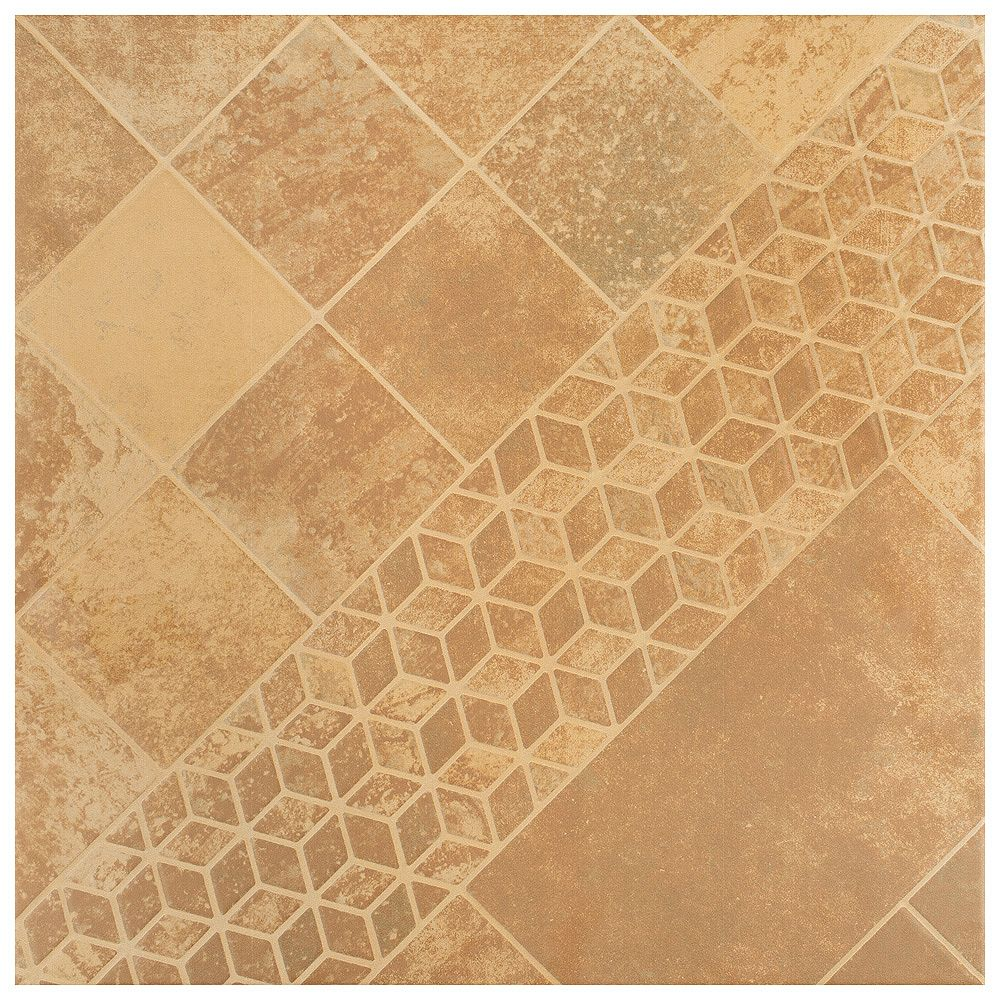 Merola Tile Teruel Beige 17-3/4-inch x 17-3/4-inch Ceramic Floor and Wall Tile (15.64 sq. ft. / case)