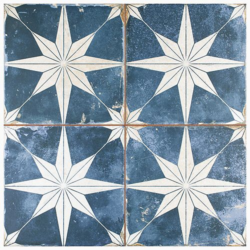 Échantillon - Carreau mural et de sol Kings Star Sky, 9 5/8 po x 9 5/8 po, céramique