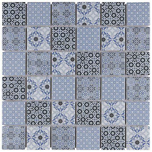 SAMPLE - Metro Hex 2 in. Matte 6 in. x 6 in. Black Porcelain Mosaic