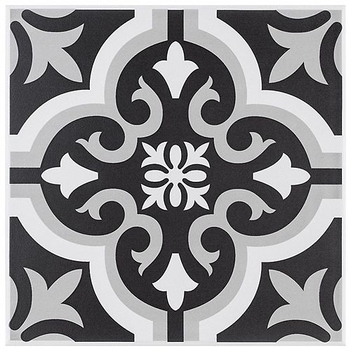 Merola Tile Braga Classic II Encaustic 7-3/4-inch x 7-3/4-inch Ceramic Floor and Wall Tile (10.94 sq. ft. / case)